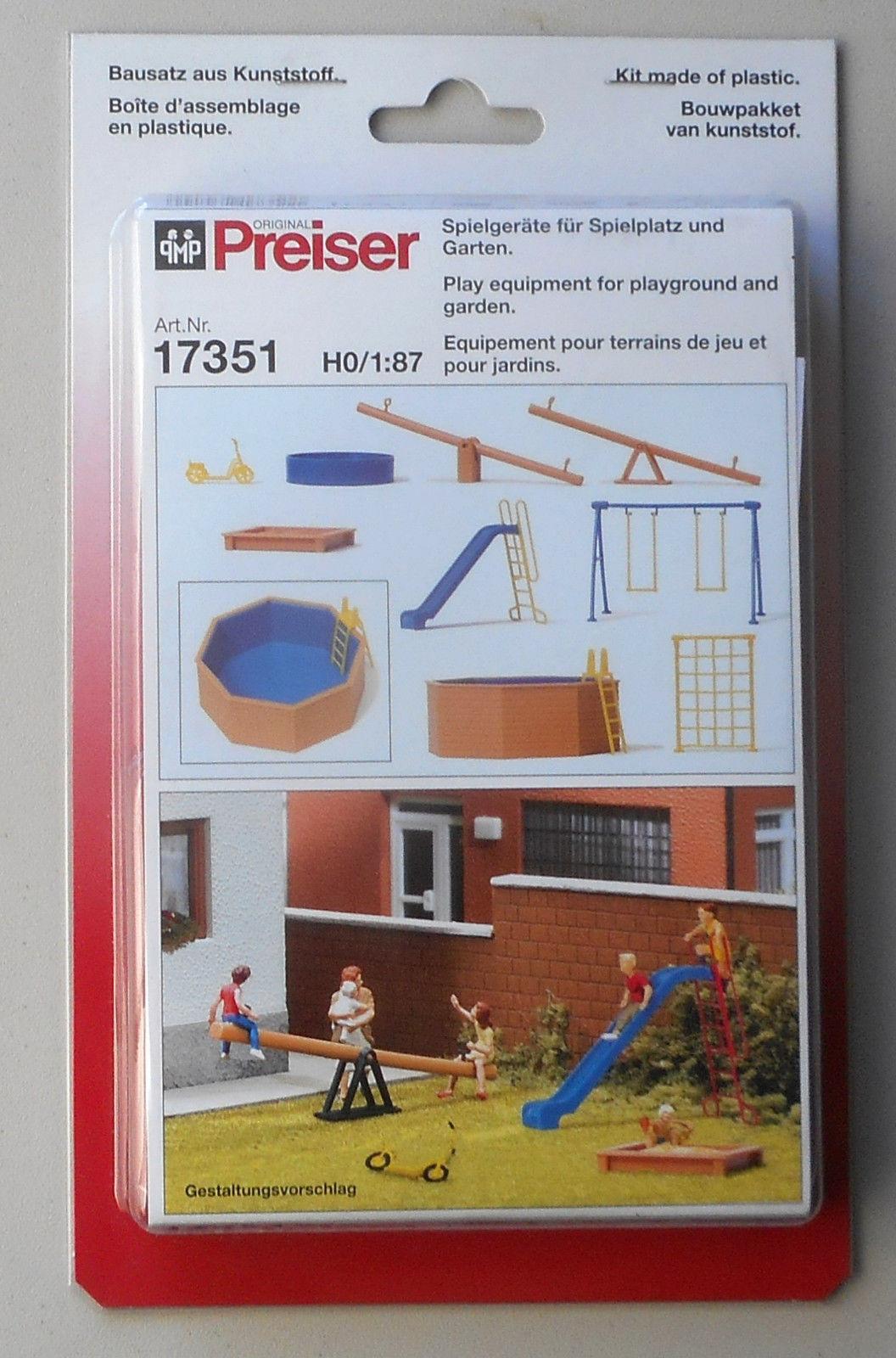 Preiser 17351 H0 Spielgeräte für Spielplatz und Garten