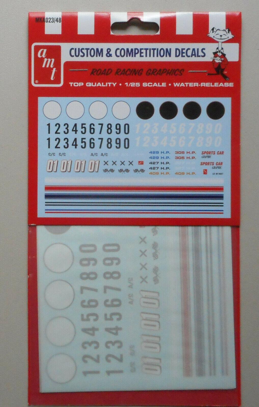 AMT 1//25  MKA023 x Road Racing Graphics Decals